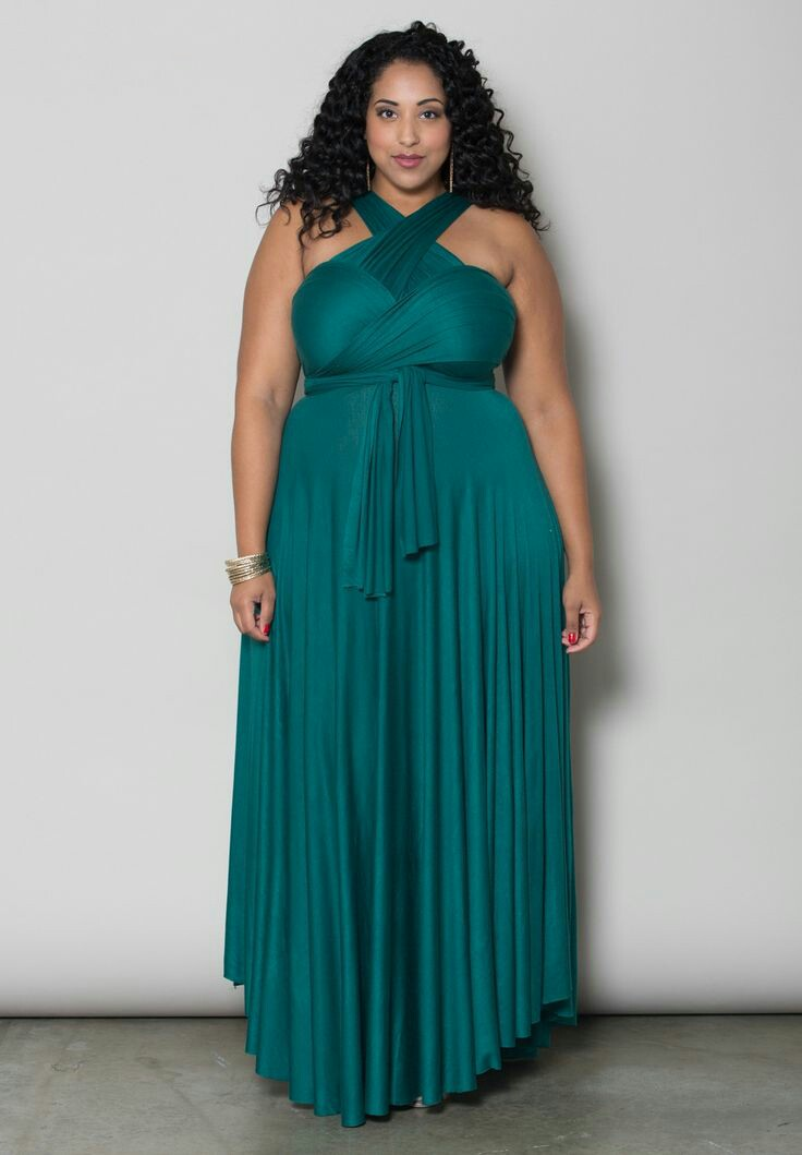 Classique Infinity Dress in Teal Green