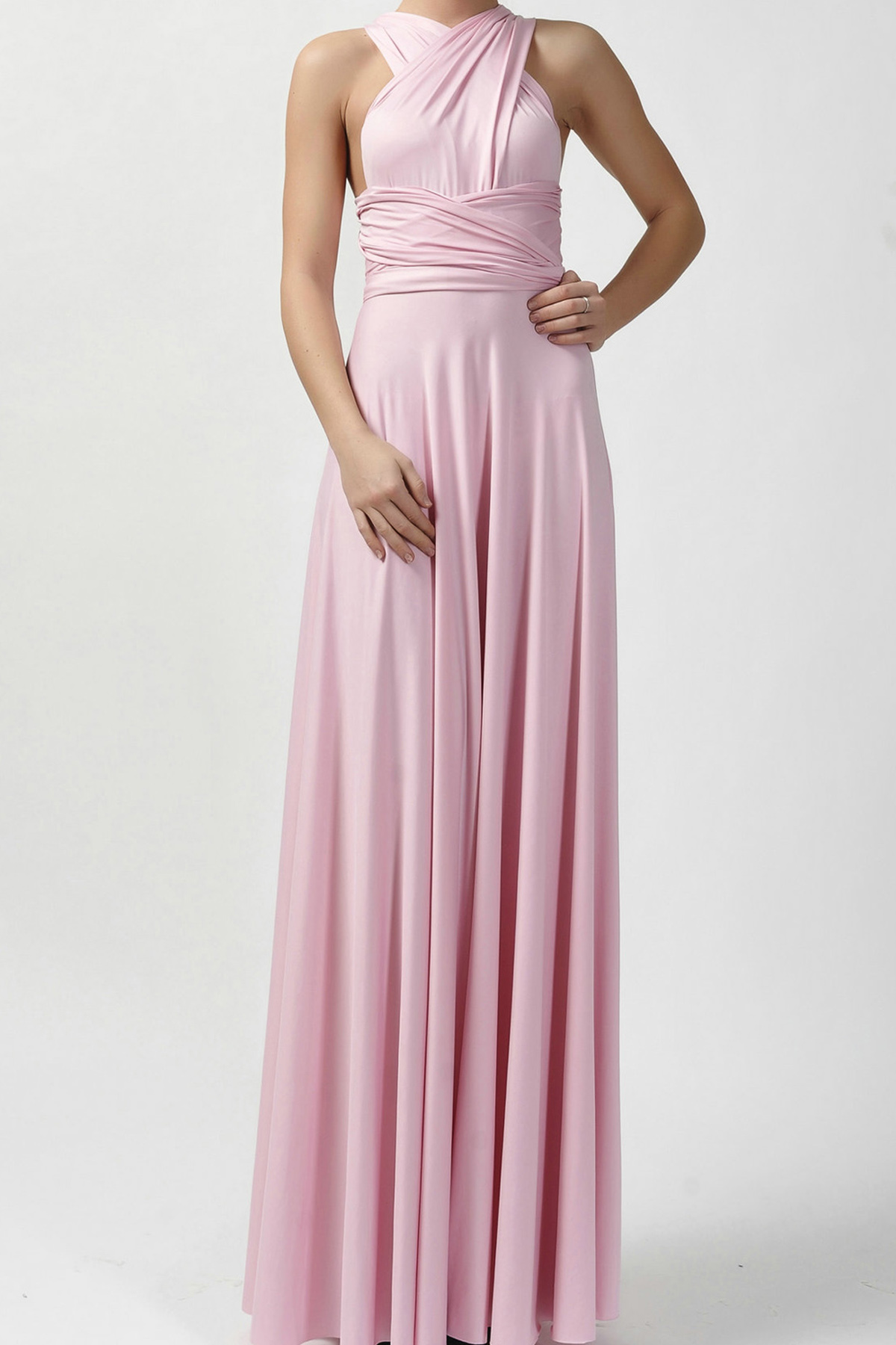Classique Infinity Dress in Blush Pink