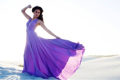 Lavender and Soft Lavender Tulle Multiway Dress with full flared skirt and Lavender and Soft Tulle