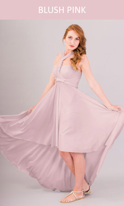 Cascading Infinity Dress in Blush Pink