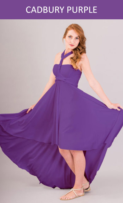 Cascading Infinity Dress in Cadbury Purple