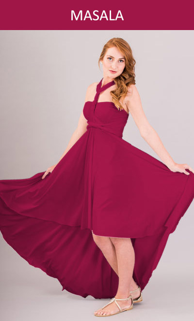 Cascading Infinity Dress in Marsala