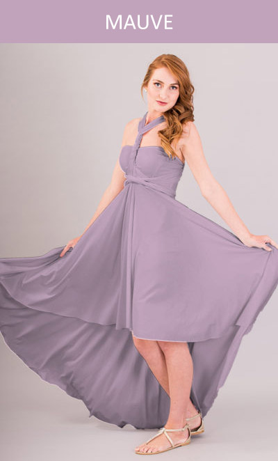 Cascading Infinity Dress in Mauve