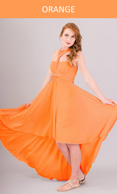 Cascading Infinity Dress in Peach