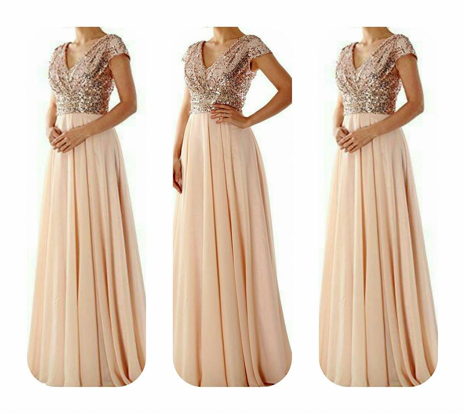 9ffbaf4bce6ac Perfect Rose Gold bridesmaid dress sass sparkle maxi dress