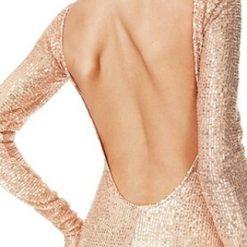 sexy sequin open back maxi dress