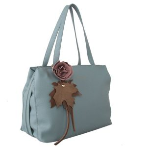 Blue Flower Detail Grab BagRed Cuckoo London Cornflower Blue Tote Flower detail is detachable