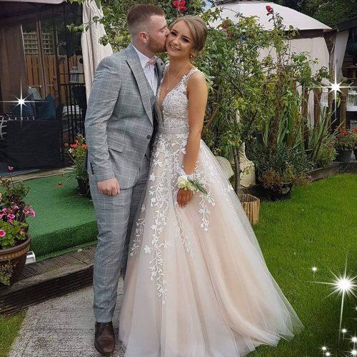 Applique Wedding Gown