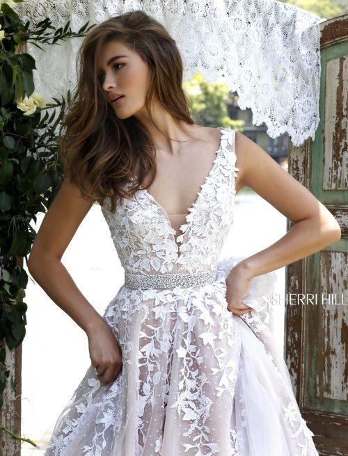 Wedding Dress A - Line Tulle lace applique a line tulle wedding dress www.presleyblue.ie