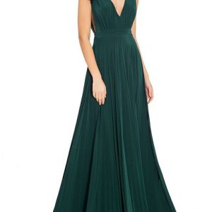 oscar inspired pleated maxi dress