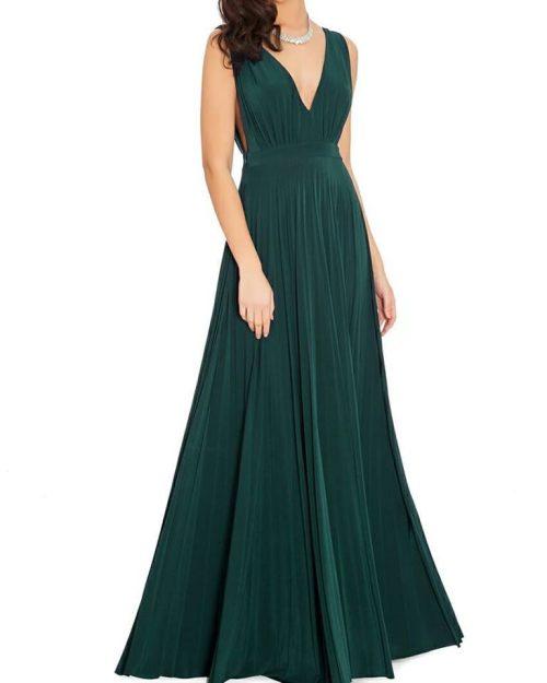 oscar inspired pleated maxi dress