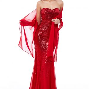 curve dress collection red sequin and chiffon gown www.presleyblue.ie