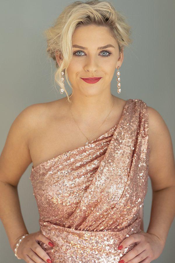 www.presleyblue.ie rose gold sequin dress