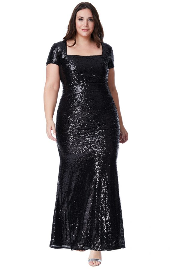 black sequin maxi dress curve dress collection