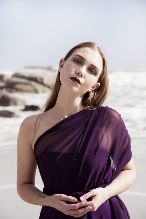 Deep Plum Multiway Dress with full flared skirt and Deep Plum Tulle