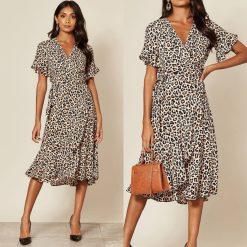 leopard print wrap dress www.presleyblue.ieCream