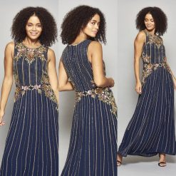 Navy Gatsby Inspired Maxi Dress