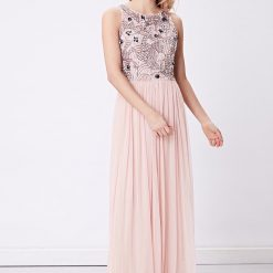 Blush Peach embellished bodice