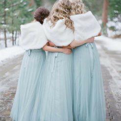 Bridal Faux Fur Wrap