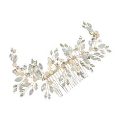 opal bridal comb