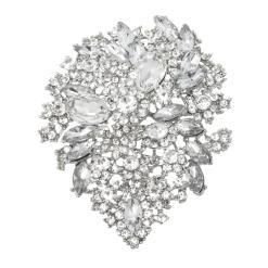 sparkly crystal bridal brooch