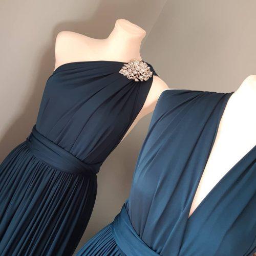 Steel Midnight Blue Multiway Dress at www.presleyblue.ie