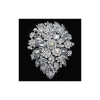 Stunning crystal bridal brooch made with attention to detail - a sparkly array of crystal flowers surrounded by glitzy clear crystals- measuring approx 10.5cm x 8cm