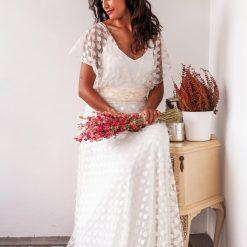 Polka Dots vintage Bridal Gown
