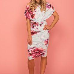 Oxygen jersey dress Jersey dress mint & magenta floral