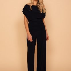 Carbon Jersey Jumpsuit in Navy